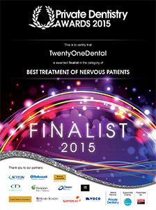 FINALIST - Best Treatment of Nervous Patients